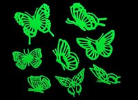 Wholesale Mix Order Kids Wall Stickers - 100sets DIY 3D Wall Stickers Home Decor For Baby Kids Living Room Self Adhesive Decoration Sticker Glow In The Dark ( 14 Designs Mix Order )