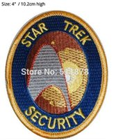 Wholesale Next Dresses - Star Trek The Next Generation SECURITY TV Series Fancy Dress Costume Embroidered iron on patch TRANSFER APPLIQUE