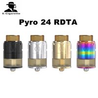 Wholesale Steel Mod - Original Vandy Vape Pyro 24 RDTA Tank 2.0ml 4ml Capacity Stainless Steel Atomizer Fit For Wismec Reuleaux RXGEN3 Mod 2250008