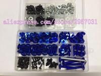 Wholesale r6 bolt kit - Fairing bolts kit screws for YAMAHA YZF R6 YZFR6 All year YZF-R6 08 09 10 fairing screw bolts kit HOTLIKE 1set