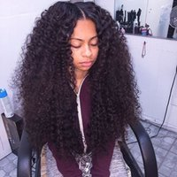 Wholesale high quality wigs for cheap - Cheap Curly Synthetic Lace Front Wigs with Baby Hair for Black Women High Quality Afro Kinky Curly Heat Resistant Synthetic Wigs