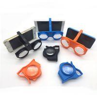 Wholesale Universal Active 3d Glasses - 6cw Magic 3D Glasses Helmet Intelligent VRBOX Eyeglass Dimensional Box Spectacles Virtual Reality Eyeglasses For Child Adults Universal