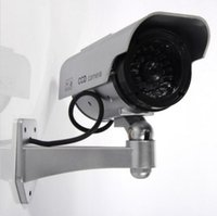 Wholesale Cctv Fake Camera Solar - Solar Power W CCTV Fake Dummy Camera Blinking LED Surveillance Security