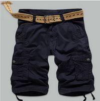 Wholesale Combat Cargo Shorts - Wholesale- Summer Men's Shorts Combat Big Plus Size New Baggy Man Board Long Cargo Capris Pocket Male Black Khaki Army Green
