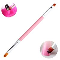 Wholesale Tool Kits For Acrylic Nail - Wholesale- 2 Ways Gradient Color Nail Art Paint Brush For Acrylic Crystal UV Gel Polish Gradual Color Change Blooming Kit Pro Manicure Tool