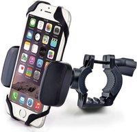 suporte de célula de bicicleta venda por atacado-Montagens de Telefone Celular Titular para Mountain bike 360 Graus de Rotação Reforçada Bycicle Phone Holder Clipe com Corda de Silicone Portátil Universal