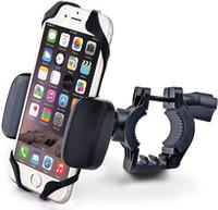 porta-telemóveis para bicicletas venda por atacado-Titular Monta Celular para Mountain bike 360 Graus de Rotação Reforçado Bycicle Titular Clipe com Corda de Silicone Portátil Universal