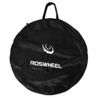 Wholesale Bicycle Carrying Bags - ROSWHEEL1pc Portable Cycling Road Mountain Bicycle MTB Single Wheel Carrier Bag Bicycle Tyre Carrying Package Bags +B