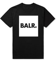 Wholesale Short Posts - Post balr square Holland soccer leisure European code short sleeved t-shirt men and women T-shirt cotton blank print BLAR tee