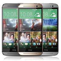 мобильные телефоны m8 оптовых-Восстановленное в Исходном HTC One M8 4 Г LTE Разблокирована ЕС США 5.0 дюймов Quad Core 2 ГБ RAM 16/32 ГБ ROM WI-FI GPS Android Смартфон Бесплатный DHL 5 шт.
