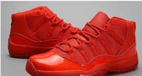 Wholesale Canvas Shoes For Low Price - Free Shipping New All Red Retro 11 basketball shoes Retro XI running shoes for men Athletic Sport Shoes Lowest Price Us8~13