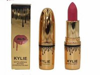 Wholesale Top Brand Name Wholesale - Brand new Makeup Top Quality kylie 12colors matte lipstick lip stick 3g with english name .