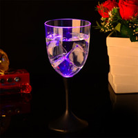 Wholesale Wholesale Clock Supplies - Cocktail Wine Glass Colourful Transparent LED Light Luminous Cup Creative Bar Goblet For Festival Party Supplies 5 7jc C R