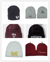 Wholesale Tmt Hats Pink - 2017 Hot Sale winter Hat Cap Beanie wool knitted men women Caps hats PALACE TMT YMCMB embroidery Skullies warm Beanies Unisex free shipping