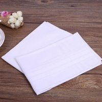 Wholesale Women Handkerchief Cotton - Free Shipping 120pcs Wholesalehigh Quality 40*40cm Men's Handkerchief Full White 100% Cotton Men's Hanky Pocket Squares