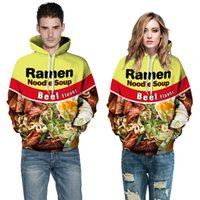 Wholesale Yellow Sweaters For Women - Beef noodles 3D hoodies for men digital printing suprem hoodie sweatshirts plus size hoodies for women mens sweat suits Couple sweater XXL