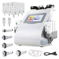 máquina de cavitação laser venda por atacado-Novo 6 Em 1 Ultrasonic Cavitação Vacuum Freqüência De Rádio Lipo Laser Máquina para Spa Venda Quente