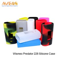 ingrosso vape mod borse di casi-Wismec Predator 228 Custodia in silicone colorata Custodia in silicone per Wismec Predator Vape Box mod
