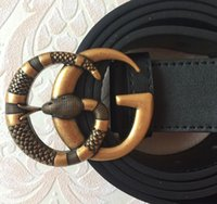 Wholesale Belt Package Leather - Designer Snake buckle brand Belts High Quality Famous Brand Luxury Belt For Men And Women Genuine Leather Belt with full package