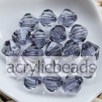 ingrosso orecchini gioielli sfaccettati acrilici-1000pcs / Lot Prezzo di fabbrica 4mm Clear Bicone acrilico Beads sfaccettato cristallo trasparente distanziatore in cristallo risultati dei monili di fascini