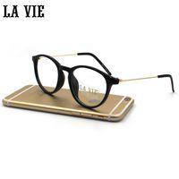 Wholesale grade spectacle frame - Wholesale- Glasses Transparent Grade Female Frames for Glasses Adult Round Transparent Glasses Optical Frame for Spectacle Oculos Lens 8093