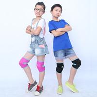 Wholesale foam knee pads - Wholesale- New Sports Kneepads Children Kids Football Basketball Soft Foam Knee Pads Protectors Climbing Cycling Guard Sports Accessories