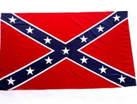 Wholesale 90cm cm two Printed Flag Confederate Rebel Civil War Flag Confederate Battle Flags Confederate Flag