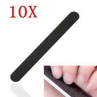 Wholesale nail systems uv gel - Wholesale- 10 Black Nail Art Sanding Files For Acrylic UV Gel Polisher Manicure System Tool