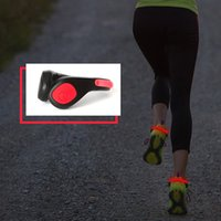 Wholesale Running Reflectors - 100pcs PVC Packing Luminous Shoes Clip Night Lights Outdoor Running Sports Cycling Lights Safety Shoe Fairy Light Reflector Flashing Light