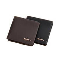 Wholesale Vertical Wallet Id - New Cross Vertical Portable Men's Wallets Quality PU Leather 2 Folds Business Black Coffee Colors ID Credit Card Holder Carteira