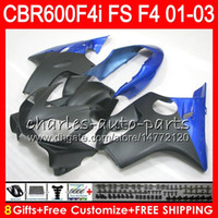 Wholesale Matte Black F4i - 8Gifts 23Colors For HONDA CBR 600 F4i 01-03 CBR600FS FS 28NO29 Matte black CBR600 F4i 2001 2002 2003 CBR 600F4i CBR600F4i 01 02 03 Fairing