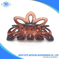 Wholesale Looking For Gift Wholesaler - Hair Clips Wholesale Brown Plastic Medium Size Nice-Looking for Ladies Dressing