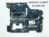 Mini-ITX AMD SATA Wholesale QAWGE LA-8681P for Lenovo G585 Laptop motherboard E1-6100 CPU DDR3 100% Fully Tested