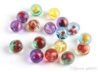 Wholesale Fish Glass Ball - Gardening glass marbles fun doll glass ball fish tank aquarium decorative stone children tweets toys Transparent toys111