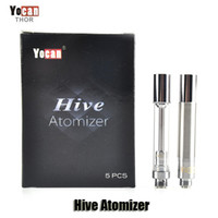 Wholesale Design Atomizer - 100% Original Yocan Hive Atomizer Wax Vaporizer Oil Cartridges No Leakage Design Tank Plastic Tube Packed Clearomizer