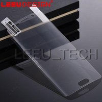 Wholesale Hd Anti Glare Screen Protector - 3D Screen Protector Curved Full Coverage Ultra Clear HD PET Film soft protector For Galaxy s8 s9 plus S7 s6 Edge note 8