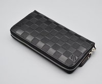 Wholesale Wallets Order - Welcome to order new fashion women's wallets 20 * 10.5 * 2.5cm diagonal header layer of leather zipper long wallet Free Shipping