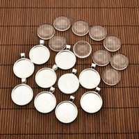 Wholesale Transparent Cabochon 25mm - 25mm Transparent Clear Domed Magnifying Glass Cabochon Cover for Alloy Photo Pendant Making, Cadmium Free & Lead Free & Nickel