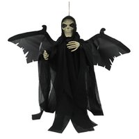 Wholesale-Voice Activated Creepy Animé Flying Skeleton Ghost Rouge Incandescent Effrayant Halloween Effrayant Décoration Toy Nouvelles