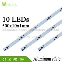 Wholesale Led Tube Pcb - Wholesale 100Pcs 1W 3W 5W Aluminum Plate 500mm PCB With 1 3 5 Watt Light Beads Use For DIY Aquarium Lights Grow Light LED Tube