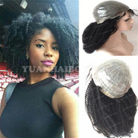 Wholesale best curly lace wigs resale online - Medical wig the best selling wigs b virgin brazilian hair kinky curly pu base full thin skin wig for black women