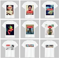 Wholesale Cartoon T Shirts For Women - New Summer Sup T-shirt for women and men Casual short sleeves Fashion Students cartoon T Shirt Unisex Tee Top