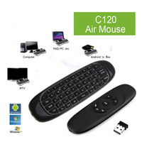 Wholesale Nano Mouse - C120 T10 All-in-One 2.4GHz Air Mouse Wireless QWERTY Keyboard Microphone Voice Remote Controller with Nano USB Receiver for HDTV PC Android