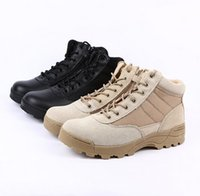Wholesale Summer Combat Boots - Swat Summer Desert Tactical Boots Causal Military Combat Hiking Black Ankle Boots Men Shoes Work Army Boots Zapatillas Botas Plus Size