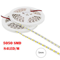Wholesale Led Tape Adhesive - Flexible Led Strip Light 5050 SMD Non Waterproof Tape Fita 5M 420LED DC 12V Surper Bright 84led  m Stripe with Adhesive Tape