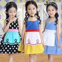 Wholesale alice clothing - ins New Princess Girls Dresses Dot Print Baby Girl Strap Dress Cosplay Kids Costumes Clothing Snow White Alice