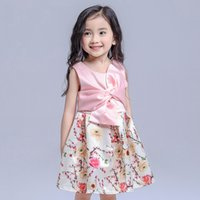 Wholesale Hot New Novelty Products - 2017 new product hot girl dress of girl dress of European and American style children small flower princess skirt peach flower princess dres