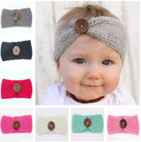Wholesale Infants Head Bands - Bebe girls headband Head Wrap kids newborn toddler hair band wool knitted winter autumn turban infant child headwear Hair accessories SEN037