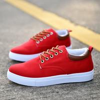 Wholesale Large C - Men's Casual Shoes,Man Spring Autumn Style Flats For Men Solid Canvas Shoes Large size 45-47