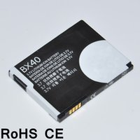 Wholesale China Batteries For Mobile Phones - High Quality China Mobile Phone Accessory Li-ion Polymer Replacement Rechargeable Battery BX40 for Motorola V8   V9